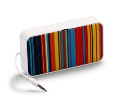 Stripes portable speaker - handy for the beach