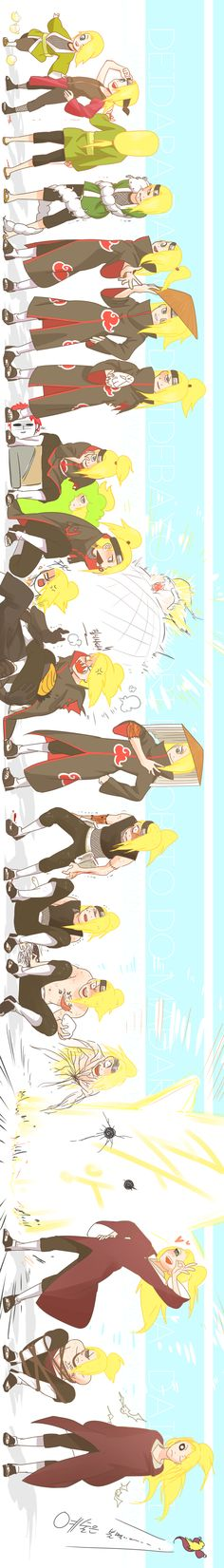 Deidara through his life... This is amazing! ❤❤❤