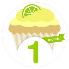 Have fun with these 12 Delicious Cupcake Monthly Baby Milestone Stickers! They make a great shower gift for parents who are expecting, or just