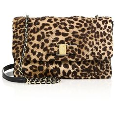 Salvatore Ferragamo Vara Gelly Quilted Leopard-Print Calf Hair... ($2,100) ❤ liked on Polyvore