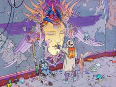 "Moebius Art on Twitter: ""#Moebius #comicart #comics #art #MoebiusArt #ScFi #Ncbd https://t.co/X3cQ8W0uQn"""