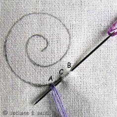 petal chain stitch 1