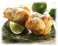 Coconut Lime Blossoms - use homemade roll dough