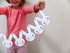 this pin makes a cute little long bunny out of paper for easter