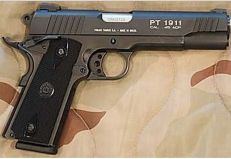 Taurus PT1911 .45 PistolLoading that magazine is a pain! Get your Magazine speedloader today! http://www.amazon.com/shops/raeind