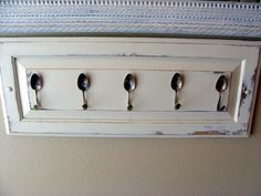 Upcycle~old kitchen door and silverware!