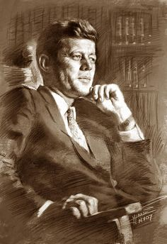 Charcoal Drawing Design John Fitzgerald Kennedy drawing, charcoal pastel on Canson paper by Ylli Haruni - Jfk Jr, Jackie Kennedy, Robert Kennedy, John Fitzgerald, Marilyn Monroe Photos, Portrait Art, Painting Portraits, Paintings, American Presidents
