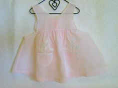 Vintage Baby Sundress Diaper Topper.