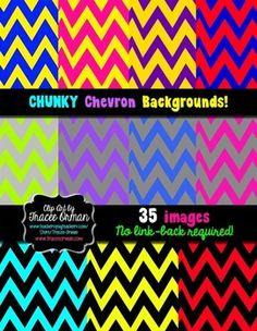 CHEVRON CLIPART BACKGROUNDS DIGITAL PAPER FOR COMMERCIAL USE - TeachersPayTeachers.com