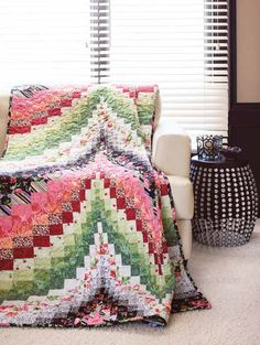 Fire & Ice bargello quilt by Ann Lauer, pattern at Fons & Porter
