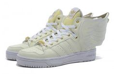 best sneakers 66d22 87fa2 Originals Adidas Jeremy Scott Wings 2.0 White Gold Shoes