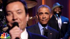 President Barack Obama Slows Jam the News and Writes Thank You Notes on The Tonight Show