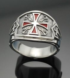 Made entirely in the U.S.A.    Ring Details~    Our newest Knights Templar design is unlike anything you have ever seen. This new and exciting
