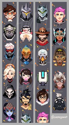 "onemegawatt: "" An Overwatch Lanyard design I did for AX! I love these chaacters so much… Stop by and get these at table D19 """