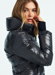 Right Handbag by Body Type Puffer Jackets, Winter Jackets, Down Suit, Black Puffer, Down Puffer Coat, Rain Wear, Body Types, Cool Girl, Fashion Forward