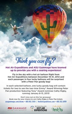 Fly like Peter Pan with @Hot Air Expeditions!