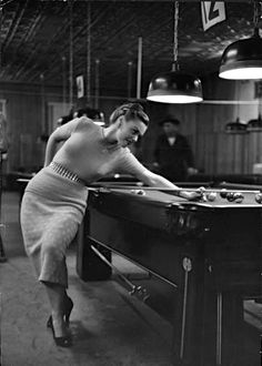 New York City Pool Hall, 1951.