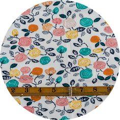 Miriam Bos for Birch Organic Fabrics, The Hidden Garden, KNIT, Roses Cream