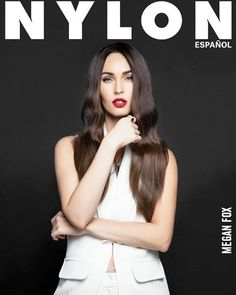 Megan Fox for Nylon Espanol's Summer Collector's Issue. She's wearing Jessica Cosmetics in Custom Colour, Soar. #meganfox #nudepolish #magazinecover #nylonespanol #nylonmagazine #celebritynails
