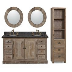 "InFurniture WK Series 61"" Double Bathroom Vanity Set & Reviews 
