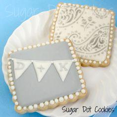Sugar Dot Cookies: Wedding Sugar Cookies - love the bunting