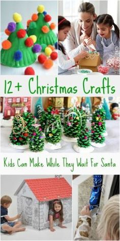 For kids, the days until Santa comes can be verrrrrry long. Keep them creatively engaged with these great holiday crafts that are festive, fun, and will pass the time!