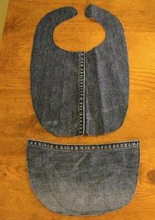 Old Jeans to Cute Denim Baby Bib