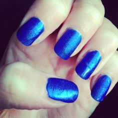Even though these got a little messed up, the royal blue can never look bad, probably my favourite polish
