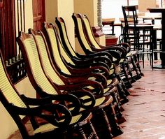Tlacotalpan's famous rocking chairs by Felixe