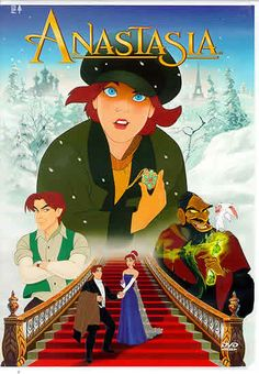 NOT A DISNEY FILM! Anastasia (Don Bluth & Gary Goldman, *** An average Disney film, not a patch on The Little Mermaid or The Beauty and the Beast (my favourites). Disney Films, Disney Cinema, Walt Disney, Classic Disney Movies, Cartoon Movies, Hd Movies, Movies Online, Movies And Tv Shows, Watch Movies