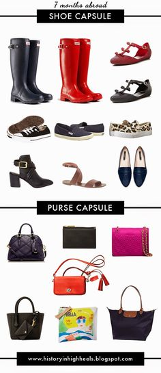 Packing for 7 Months Abroad: Shoes and Purses - History In High Heels