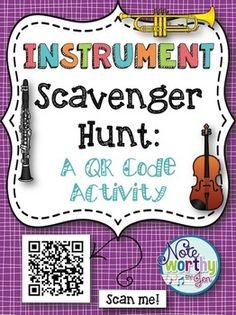 *This Instrument Scavenger Hunt is an interactive and fun way for your students…