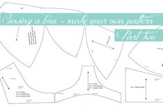 Bra making - how to DIY your own pattern pt 2 by MeasureTwiceCutOnce