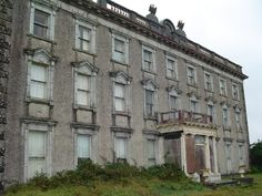 "Loftus hall,County Wexford, Ireland  -constructed in the 1350's - this building dates back to the 1870's  -mysterious hole in the ceiling based on legend of ""Cloven Hooved"" man, poltergeist activity abounds"