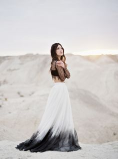 New Wedding Dresses Boho Crop Top Ideas Ombre Wedding Dress, Black Wedding Dresses, Wedding Black, Trendy Dresses, Nice Dresses, Lace Dress With Sleeves, Trendy Wedding, Luxury Wedding, Wedding Ideas