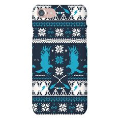 Hogwarts Ugly Christmas Sweater Pattern: Ravenclaw - With Christmas around the corner everyone will be wearing their best ugly sweaters. Pick something that's not only ugly, but nerdy too! If you're a geek in need of something to sport for the holiday season how about this cool harry potter Phone Case? Perfect for any Ravenclaw in need of an ugly sweater inspired pattern this December. Also makes a great gift for book lovers!