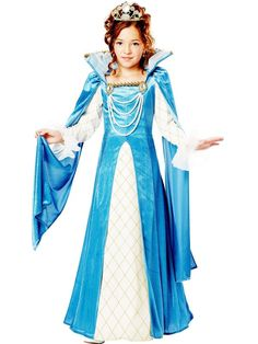 Halloween Renaissance Queen Child Costume