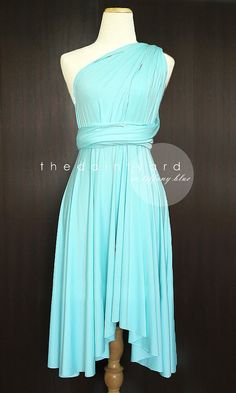 Tiffany Blue Bridesmaid Convertible Dress Infinity Dress Multiway Dress Wrap Dress Wedding Dress Pastel on Etsy, $34.00