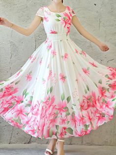 Ericdress is a reliable site offering online cheap dresses for women such as long dresses. Hope you will enjoy the latest dresses like white dresses for women & vintage dresses. Long Gown Dress, Chiffon Maxi Dress, Maxi Dress With Sleeves, Maxi Dresses, Casual Dresses, Floral Chiffon, Dress Shirt, Summer Dresses, Pretty Dresses