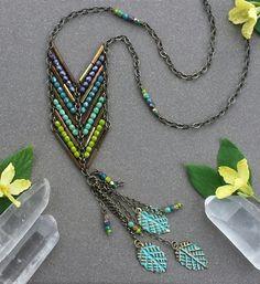 Boho Chevron Halskette  auf Bestellung  Fett von MileHighBeads