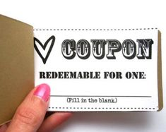 Birthday Gift Coupon Template 7 Best Coupons For Boyfriend Images On Pinterest  Gift Ideas Craft .