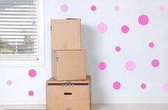 Full Color Set Of Pink Polka Dot Spot Wall Sticker Nursery Child Room - http://babyfur.net/full-colour-set-of-pink-polka-dot-spot-wall-sticker-nursery-baby-room/