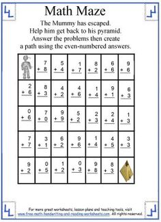 math worksheet : 1000 images about math maze on pinterest  maze math and worksheets : Pyramid Addition Worksheets