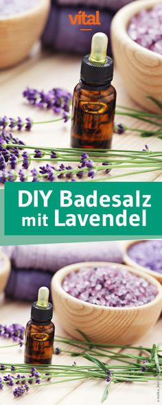 Badesalz mit Lavendel und Salbei selber machen