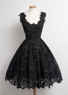 Simple-dress 1950s Vintage Little Black Lace Prom Dresses/Homecoming Dresses/Party Dress  LAHD-70704