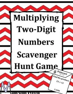 My students are already bugging me for another scavenger hunt. This scavenger hunt gets students moving around while practicing math. Students use the answer to one problem to find another problem hanging around the classroom. Students will complete a total of 16 problems to create a list of mathematicians.  I also had students research one of the mathematicians for homework and do a mini presentation. It was amazing!