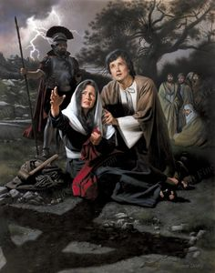 No Greater Love by Simon Dewey ~ Blessed Mother Mary & St. John at the foot of the Cross of Jesus
