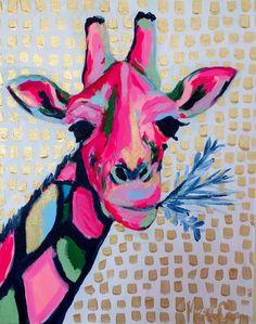 Sassy and Spotted Giraffe Print/ Megan Carn Giraffe Painting, Giraffe Art, Painting Inspiration, Art Inspo, Pop Art, Funky Art, Illustrations, Animal Paintings, Art Lessons