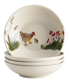 Look what I found on #zulily! Southern Rooster Bowl - Set of Four by Paula Deen #zulilyfinds