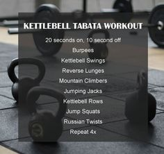 Home workouts & Interval workouts & Tabata Workouts & HIIT workout & www.experimentsin& Kettlebell Tabata Workout & Experiments In Wellness Source by The post Kettlebell Tabata Workout Kettlebell Training, Circuit Kettlebell, Kettlebell Swings, Kettlebell Challenge, Full Body Kettlebell Workout, Kettlebell Deadlift, Training Workouts, Strength Workout, Fitness Workouts